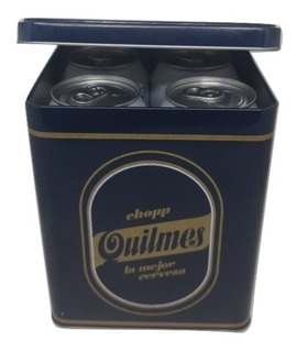 Lata Quilmes Con 4 Latas De Cerveza X 473ml.
