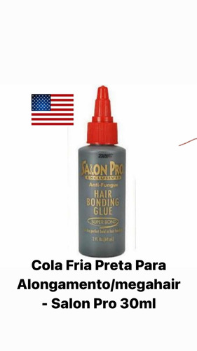 Cola Fria Preta Para Alongamento/megahair - Salon Pro 30ml