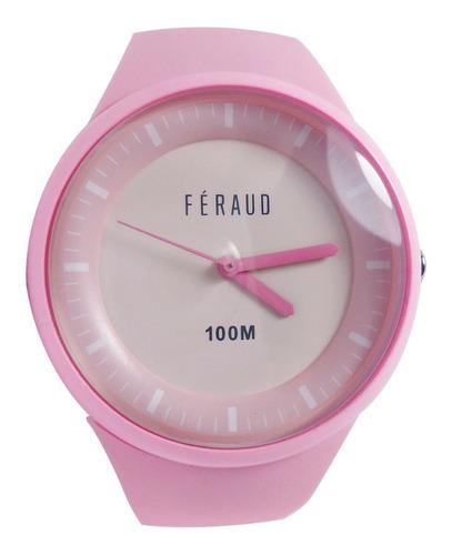 Reloj Feraud F100m8-01 Mujer Sumergible 100m Silicona
