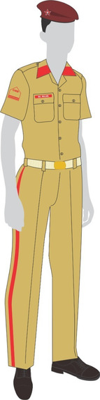 Uniforme Colégio Militar: Camisa Cáqui Manga Curta Maculina