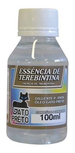 Esencia De Trementina Gato Preto 100ml Oleo