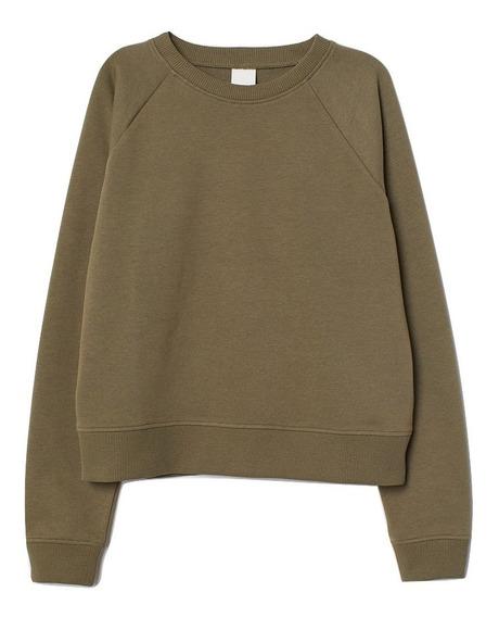 Buzo Pullover Hoodie Algodon Importado Hm Mujer Moda