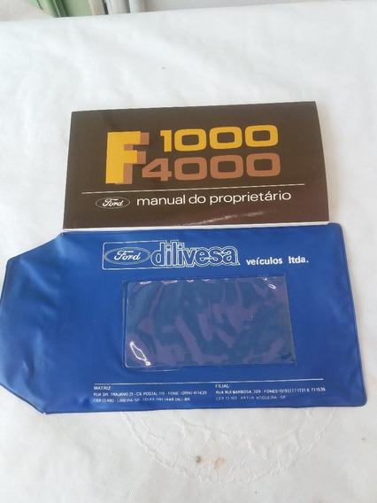 Manual Ford F- 1000-4000 Original