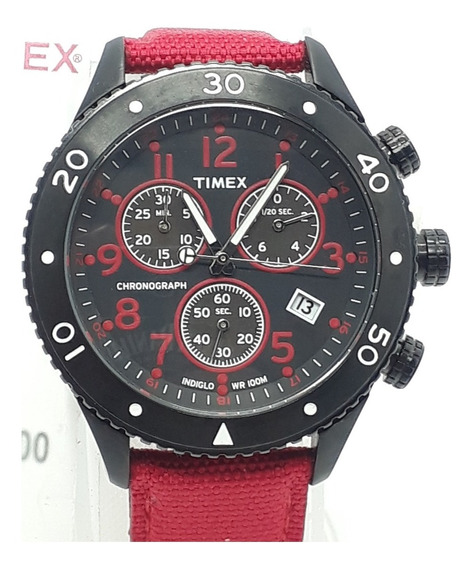 Relógio Timex Indiglo Night-light Cronografado T2n087