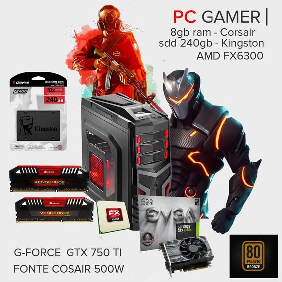 Pc Gamer 8gb 1tb Hd + 240ssd / Brinde Razer Kraken Pro