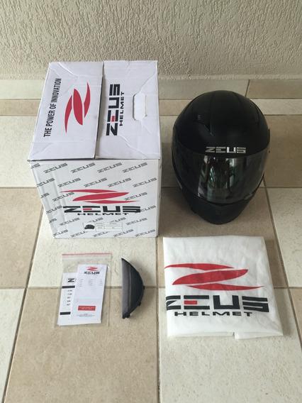 Capacete De Moto Zeus - Mod. Zs810 A - Preto Fosco - Usado