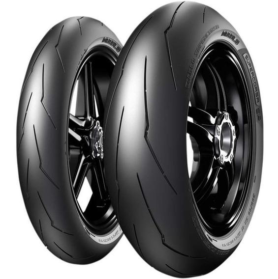 Par Pneu Hp4 Race 120/70r17 + 200/55r17 Diablo Sp V3 Pirelli