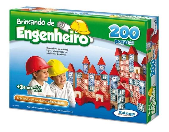 Jogo Brincando De Engenheiro 200 Peças