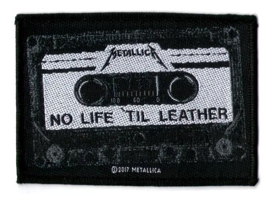 Patch Microbordado - Metallica - No Life Til Leather Oficial