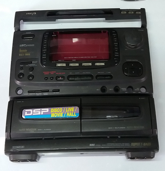 Frente Do Som Aiwa Nsx-999, Botões E Tampa Do Tape Deck