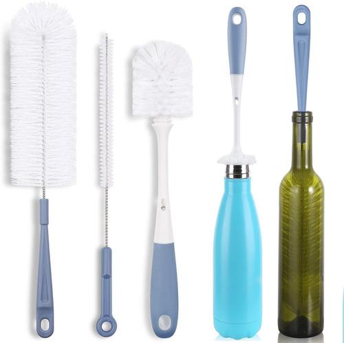 Imagen 1 de 7 de Juego De 3 Cepillos De Limpieza Para Botellas - Botella De A