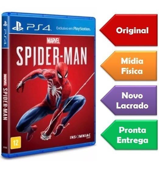 Spider-man Ps4 Mídia Física Lacrado Original Pronta Entrega