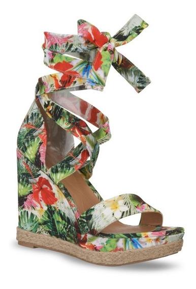Sandalias Andrea Plataforma De Flores Multicolor 2533988 536