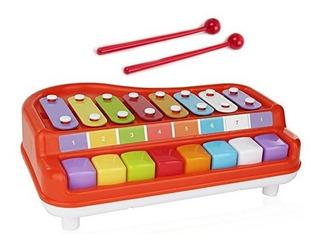 Toysery 2 En 1 Xilofono Para Piano Para Niños Juguetes Educ