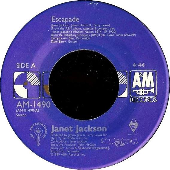 Janet Jackson Escapade Compacto Import Us 1989 Vocal Instru