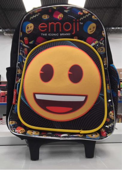 Mochila Emoji Carrito Luz 18 Pulgadas