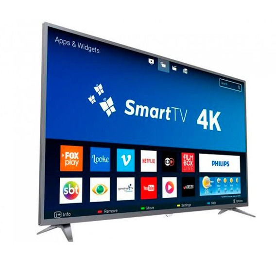 Smart Tv 50 Polegadas Philips 50pug6513 4k 3 Hdmi 2 Usb