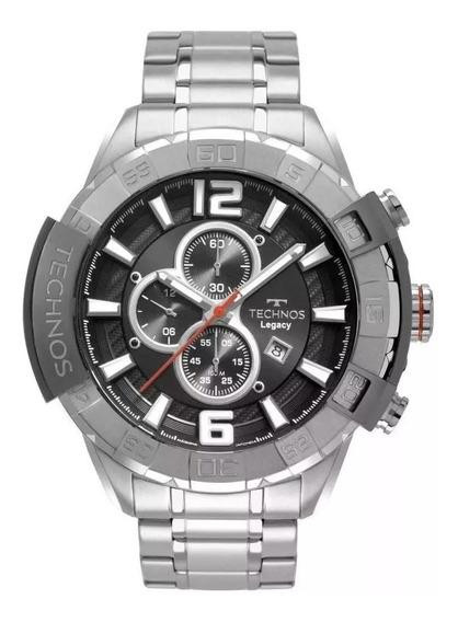 Relógio Masculino Technos Legaxy Os10fd/1c 56mm Aço Prata