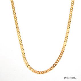Corrente Groumet Masculina Ouro 18k Grm60690008,16