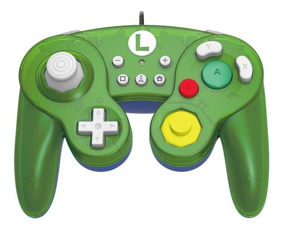 Controle Gamecube Hori Luigi Edição Super Mario Switch