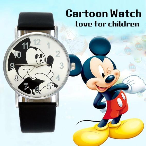 2 Unidades Relógio Mickey Disney Criança E Adolescente