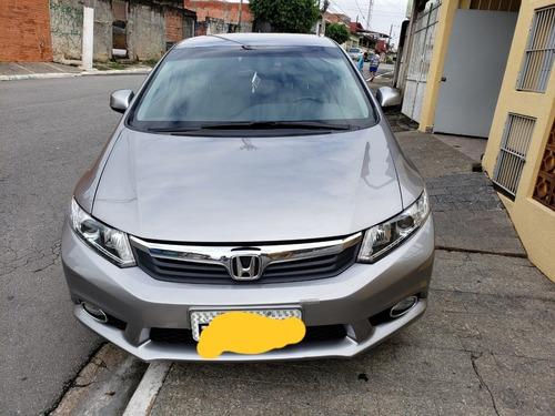 Honda Civic Lxs 13/14 Cinza Com 47 Mil Km Carro Novo Complet
