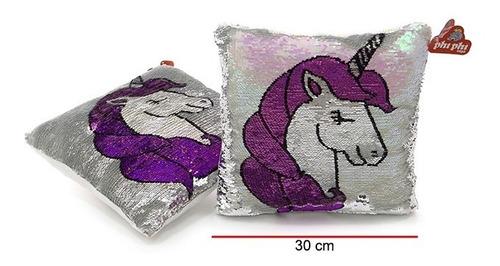Almohadón Unicornio Lentejuelas Phi Phi Toys 30 X 30 Cm Edu