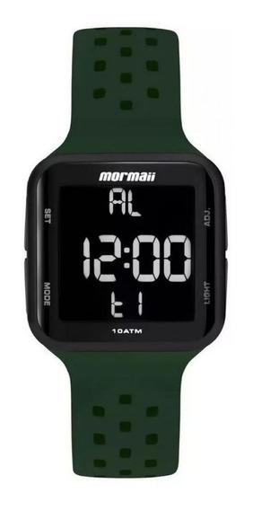 Relógio Unissex Mo6600ac/8vdigitalverde E Preto Mormaii