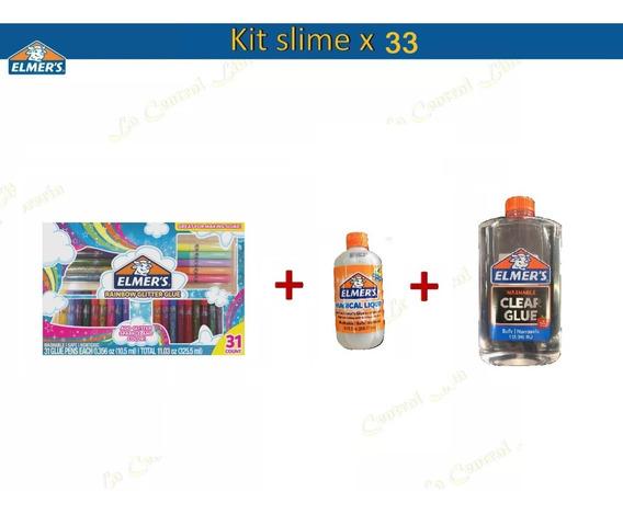 Kit Elmers 31 Piezas + Adhesivo Transparente + Activador