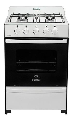 Imagen 1 de 7 de Cocina Escorial Master Full Blanca 56 Cm Multigas 4 Hornalla