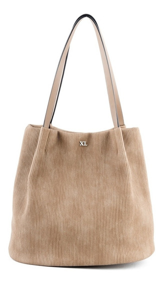 Cartera Mujer Xl Extra Large Sandra Taupe