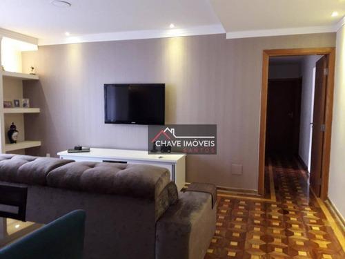 Apartamento À Venda, 149 M² Por R$ 680.000,00 - Embaré - Santos/sp - Ap1771