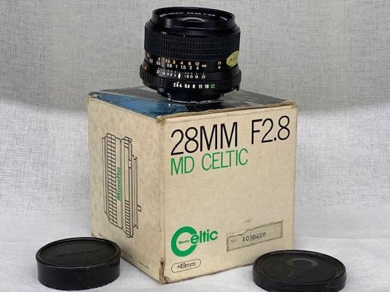 Lente Minolta Md Celtic 28mm 1:2.8 (analógica).