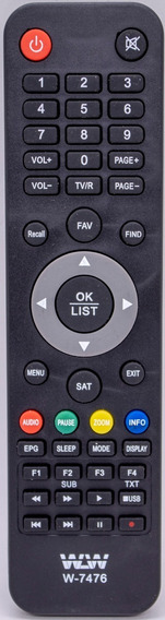Controle Remoto Receptor 7476 /s926 / 1001 /1005 / 2005