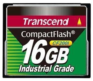 Compact Flash Transcend 16gb 200x Industrial Grade C/ Nf