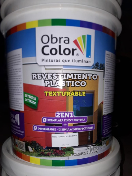 Revoque Plastico 2 En 1 Texturado 30 Kilos Impermeable