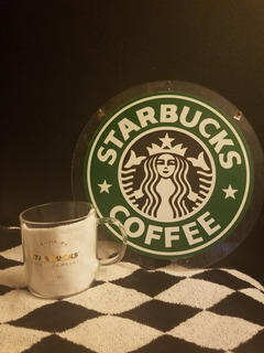 Taza Y Letrero Starbucks