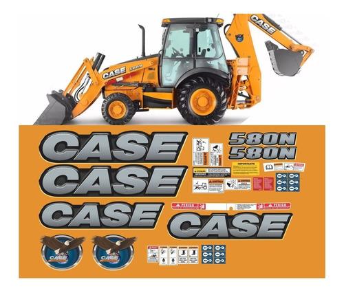 Kit Adesivo Completo Retroescavadeira Case 580n + Etiquetas