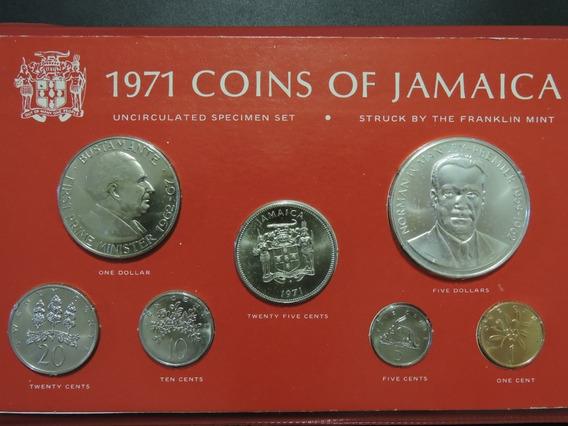 Jamaica Set De Monedas 1971 Plata