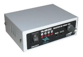Seletor De Vídeo Sequencial 4x2 / 2 Conector Bnc X Tipo F