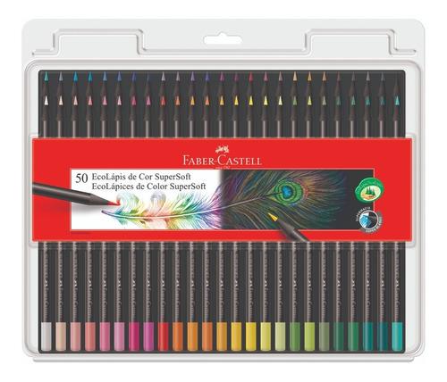 Lápis De Cor Faber Castell Supersoft 50 Cores