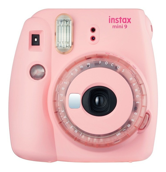 Câmera Instax Fujifilm Mini 9 Rosa Chiclé + 20 Filmes/poses