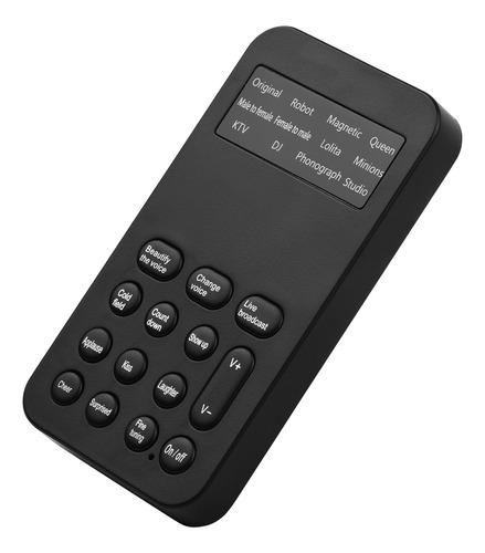 Imagen 1 de 9 de Mini Cambiador De Voz Dispositivo De Efectos De Sonido De La