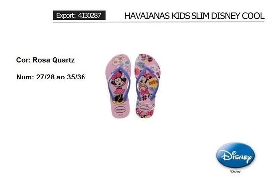 Havaianas Kids Slim Disney Cool - Minnie - Originais
