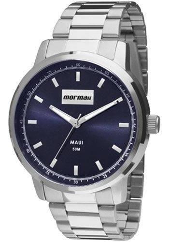 Relógio Mormaii Maui Mo2036ht/3a Feminino Prateado Com Fundo