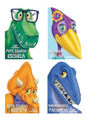 Set De 4 Libros De Dinosaurios Con Enseñanza Dreams Art