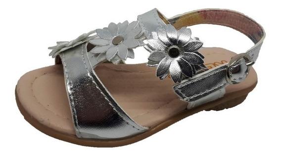 Sandalia 2 Tiras Con Flores Keek