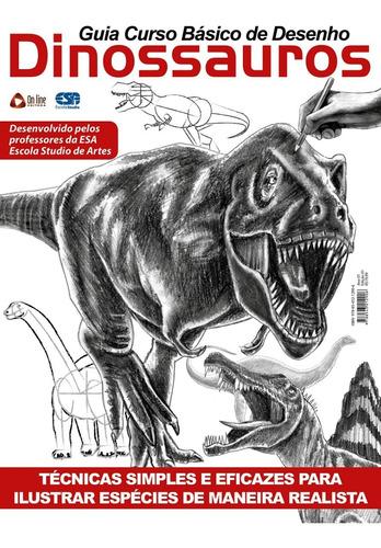 Livro Guia Curso Básico De Desenho: Dinossauros