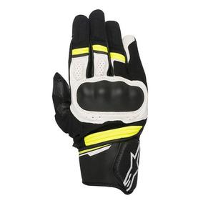 Luva Alpinestars Booster Preto/branco/amarelo Rs1
