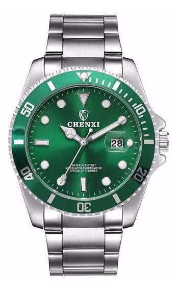 Relógio De Quartzo Luminoso Chenxi Verde